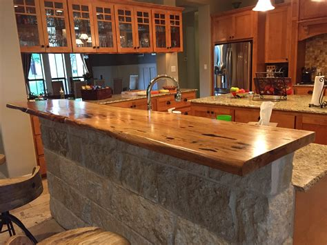 kitchen island with bar top kitchen bar top pecan with live edge bar tops pinterest bar tops kitchens and house