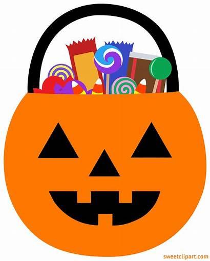 Halloween Candy Pumpkin Clipart Clip Transparent Pail