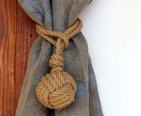 Set Of 2 Nautical Rope Curtain Tie Backs Nautical Monkey