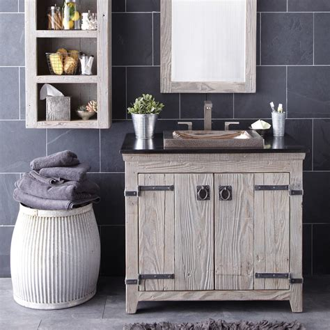 wood bathroom vanities reclaimed wood bath vanity trails
