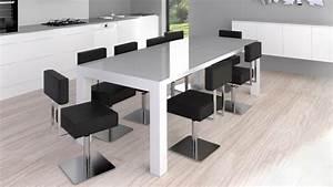 Table de salle a manger moderne reflection mobilier moss for Salle À manger contemporaineavec grande table de salle a manger avec rallonge