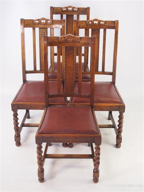 antique oak chair set 4 vintage oak dining chairs circa 1920s antiques atlas 1292