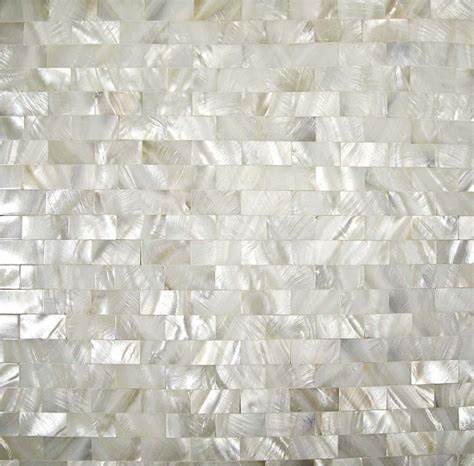 home mosaics tiles white subway brick mother of pearl tile