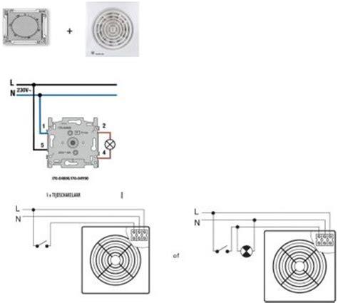 badkamer ventilator tijdschakelaar ventilator met timer aansluiten op een tijdschakelaar
