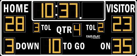 Fair-Play FB-8318TKH-2 Football Scoreboard - Olympian LED