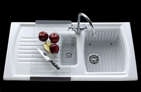 ceramic kitchen sink with drainer denby sonnet ceramic inset sink 1 5 bowl and 8090