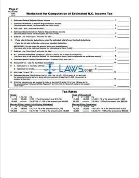 north carolina legal name change form form nc 40 individual estimated income tax north