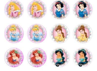 disney princesses edible cupcake toppers for sale in dalkey dublin from flour power