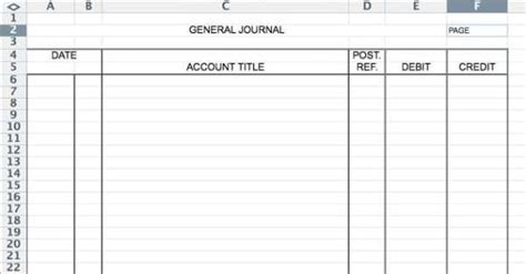 accounting journal template 5 general journal templates formats exles in word excel