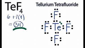 Lewis Dot Diagram For Tellurium