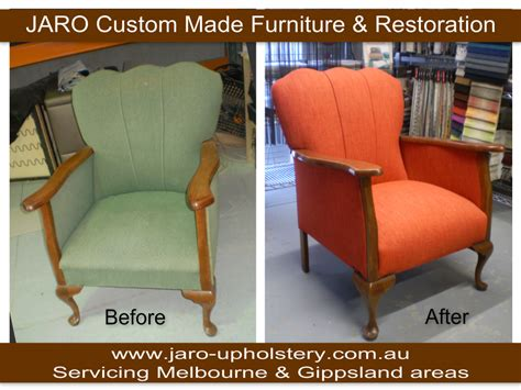 Upholstery Melbourne by Antique Arm Chair With Fluted Back Reupholstered By Jaro
