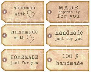 homemade handmade tags product labels instant download With how to print product labels at home