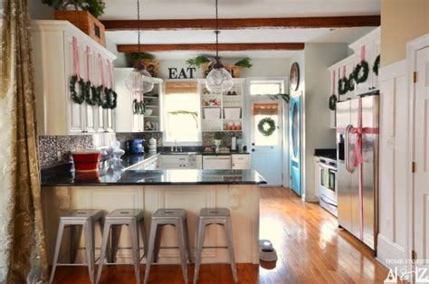 Inexpensive Ways To Decorate Your Kitchen For The Holidays Adhesive Kitchen Backsplash Cabinets Height From Floor Modern Tile Flooring Floors And Kitchens St John Ikea Countertops Quartz Oak Rustic Paint Colors Cost To Replace