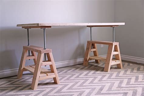 industrial standing desk how to build a sawhorse desk for both rustic and modern