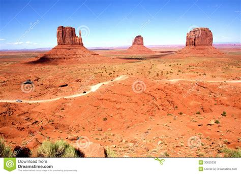 The Classic Western Landscape In Monument Valley Utah