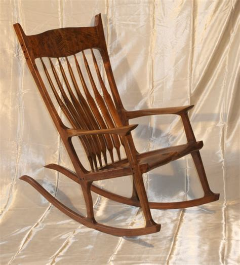 maloof rocking chair seat maloof style rocking chair shaped by out of walnut