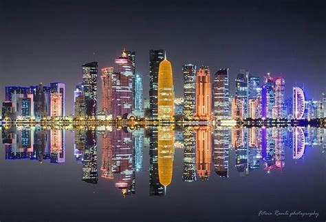 beautiful doha qatar skyline atmatpit tag