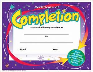 30 Certificates of Completion (large) certificate award ...