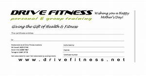 drive fitness blog mother39s day gift certificates With personal trainer gift certificate template