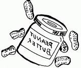 Coloring Butter Peanut Jelly Clip Housekeeping Sandwich Colouring Library Clipart Jar Template Line sketch template