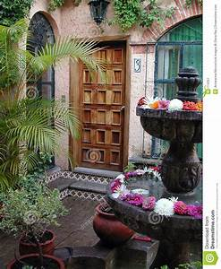 Mexican Patio Entry Stock Image