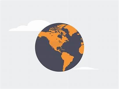 Globe Animation Gifs Dribbble Planes Infographic