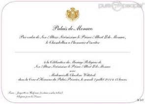 1 an de mariage mariage du prince albert et charlène découvrez leur d invitation bienvenue au pays