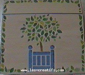 peinture sur bois au pochoir ou pinceau With peinture au pochoir sur bois