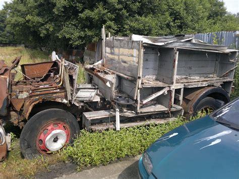 Boat Engine Scrap Yards by Dennis F8 Engine Truck Abandoned In Scrap Yard