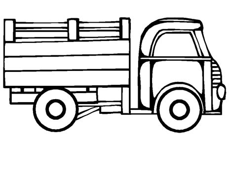 coloring page truck coloring pages