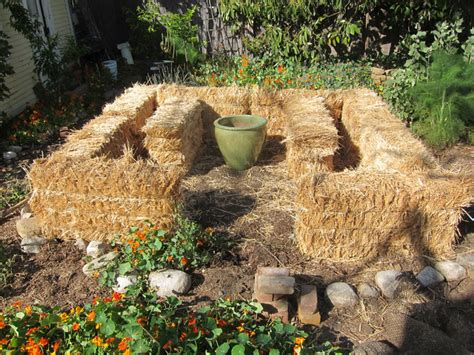 hay bale gardening our new straw bale garden part i root simple