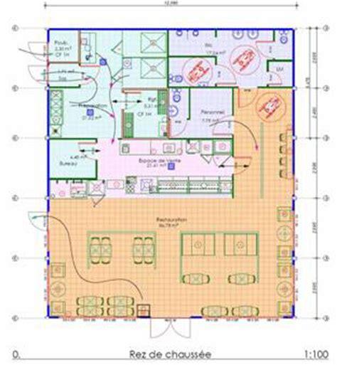 normes cuisine restaurant exemple plan de cuisine circulation plan maison
