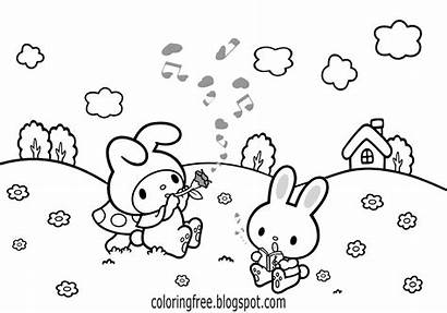 Coloring Pages Drawing Printable Printables Hello Kitty