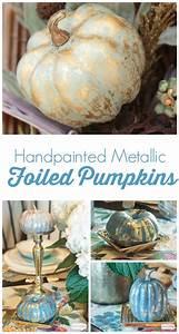 Pumpkin, Decorating, Ideas, Metallic, Foil, Pumpkins