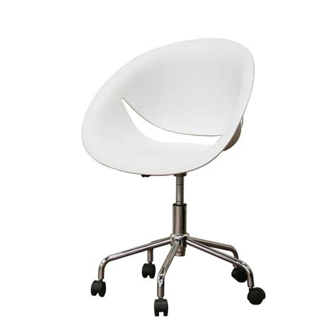 clear plastic desk chair egg shaped white swivel desk chair with caster wheels as