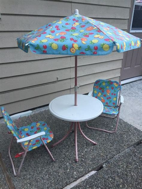 outdoor patio set table chairs and umbrella baby