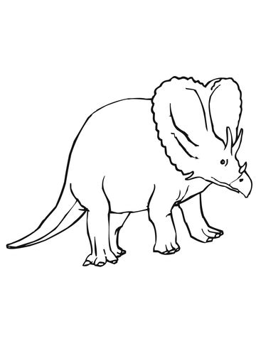 triceratops cretaceous period dinosaur coloring page