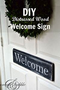 DIY Distressed Wood Welcome Sign - Create and Babble
