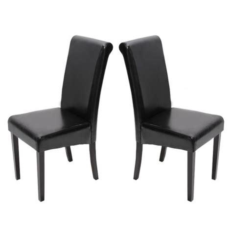 chaises simili cuir noir chaises cuir noir pieds foncées lot de 2 chaises salle à manger novara ii