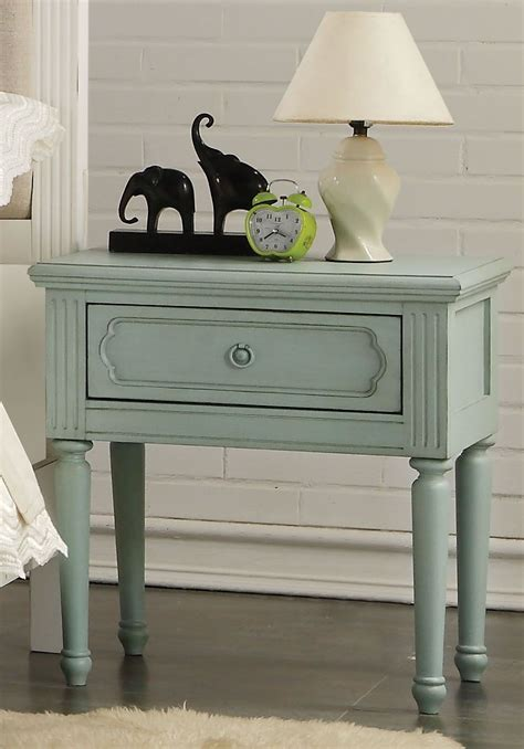 Teal Nightstand by Morre Antique Teal Nightstand 1stopbedrooms