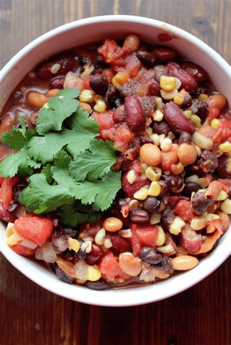 crock pot vegetarian crock pot vegetarian three bean chili