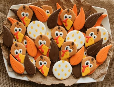 decorated turkeys sugar belle cookies party invitations ideas
