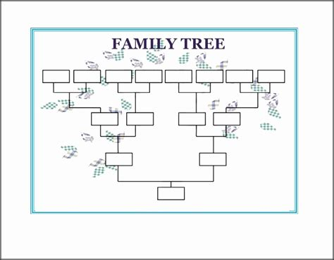 Family Will Template by 10 Family Tree Word Template Sletemplatess