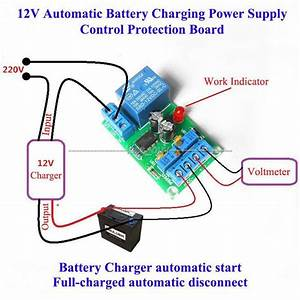 12v Battery Automatic Charging Controller Module Protection Board Relay Board 721047526048