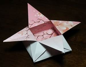 Flower Box Printable Origami Instructions