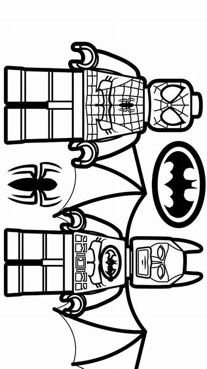 Lego Spiderman Batman Coloring Printable Pages Sheets