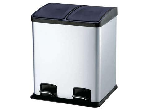 poubelle cuisine a pedale poubelle de cuisine 24 l select 24 coloris argenté vente