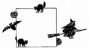 Kürbis Schwarz Weiß : schwarz und wei halloween frame vektor cliparts public domain vektoren ~ Orissabook.com Haus und Dekorationen