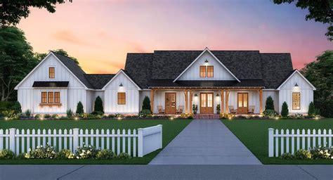 meadowview house plan modern farmhouse  story
