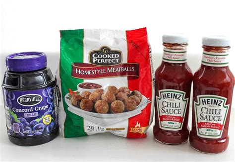 meatballs jelly grape sauce chili heinz recipe cooker slow crock pot party aka ow lowest grab need amazon